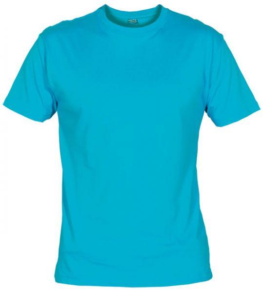 Pánské tričko bez potisku azur