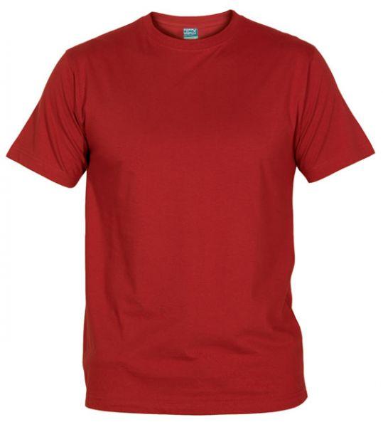 Pánské tričko bez potisku tm. červené
