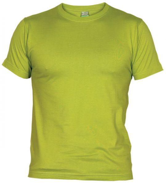 Pánské tričko bez potisku pistaciové