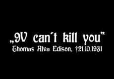 Pánské tričko s potiskem - 9V can't kill you black