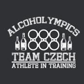 Dámské tričko s potiskem - Alcoholympics black