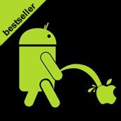 Pánské tričko s potiskem - Android P's black