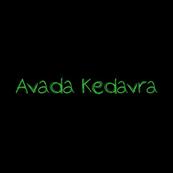 Pánské tričko s potiskem - Avada kedavra black