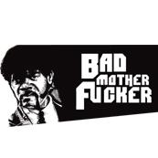 Pánské tričko s potiskem - Bad mother fucker white