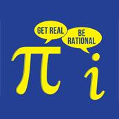 Pánské tričko s potiskem - Be rational-get real blue