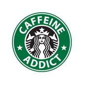 Pánské tričko s potiskem - Caffeine addict white