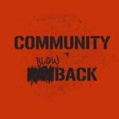 Dámská mikina s potiskem - Community blowback red