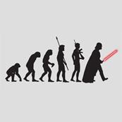 Dámské tričko s potiskem - Darth evolution grey