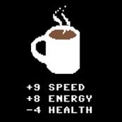 Dámské tričko s potiskem - Energy drink black