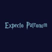 Pánské tričko s potiskem - Expecto patronum blue
