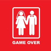 Dámské tričko s potiskem - Game over red
