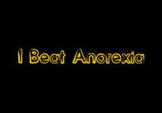 Pánské tričko s potiskem - I beat anorexia black