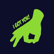 Pánské tričko s potiskem - I've got you purple