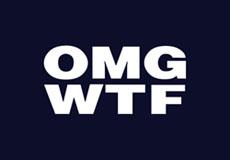 Pánské tričko s potiskem - Omg wtf black