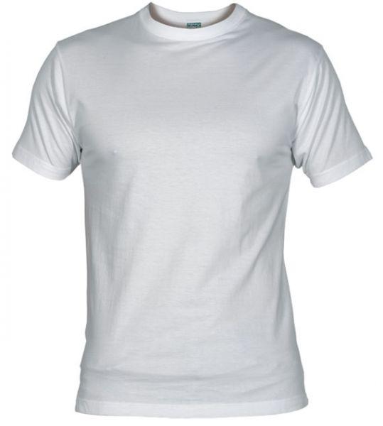 Pánské tričko bez potisku bílé