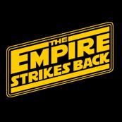 Pánské tričko s potiskem - The empire strikes back black