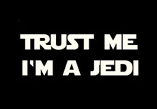 Dámské tričko s potiskem - Trust me I'm a jedi black