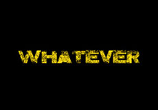 Dámské tričko s potiskem - Whatever black