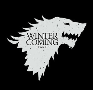 Dámská mikina s potiskem - Winter is coming black