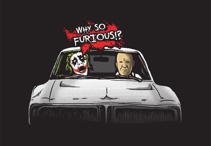 Pánské tričko s potiskem - Furious!