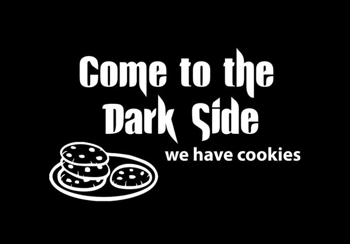 Pánské tričko s potiskem - Come to the Dark Side. We have cookies