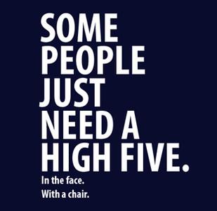 Dámské tričko s potiskem -Some people just need a high five