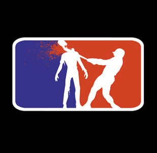 Pánské tričko s potiskem - National zombie league hoody