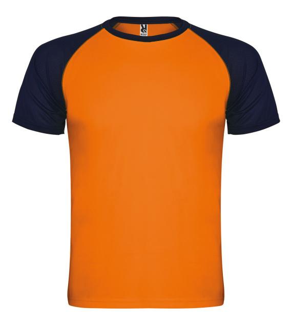Pánské tričko bez potisku Oranžovomodré