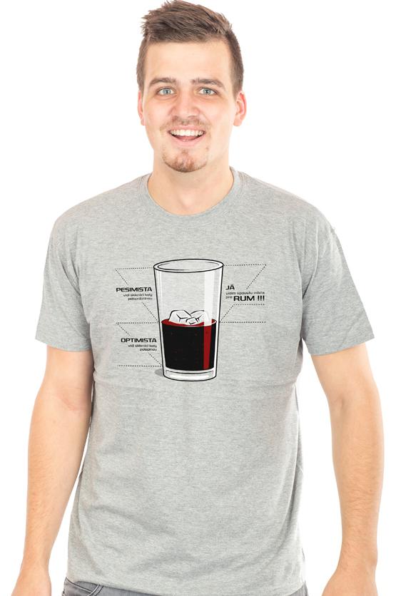 Pánské tričko s potiskem - Rum a cola