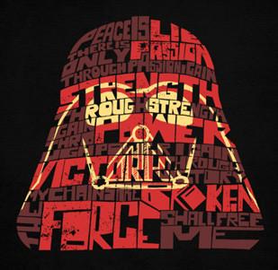 Pánské tričko s potiskem - Sith code - Vader