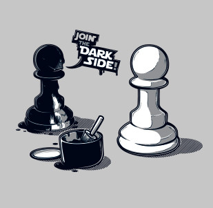 Pánské tričko s potiskem -Join The dark side