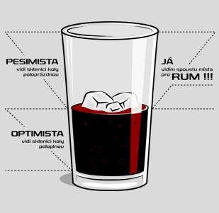 Dámské tričko s potiskem - Rum a cola