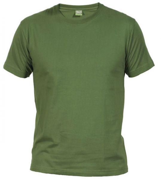 Pánské tričko bez potisku tm. zelené