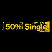 Pánské tričko s potiskem - 50% single black