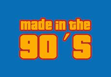 Pánské tričko s potiskem - 90's blue