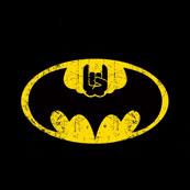Pánské tričko s potiskem - Bat rocks black - Batman