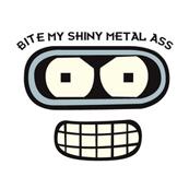 Pánské tričko s potiskem - Bite my shiny metal ass white - Futurama