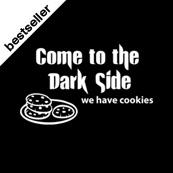 Dámské tričko s potiskem - Come to the dark side black