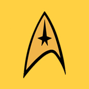 Dámské tričko s potiskem - Command uniform star track yellow