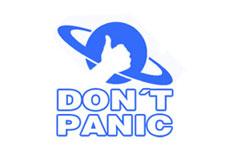 Pánské tričko s potiskem - Don't panic white