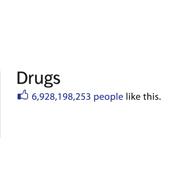 Dámské tričko s potiskem - Drugs white