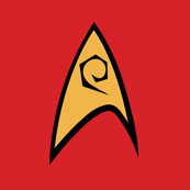 Dámské tričko s potiskem - Engineering uniform star track red