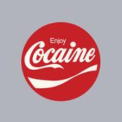 Pánské tričko s potiskem - Enjoy cocaine grey