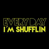 Pánské tričko s potiskem - Every day I'm shufflin black
