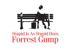 Pánské tričko s potiskem - Forrest gump white