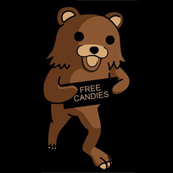 Pánské tričko s potiskem - Free candies black