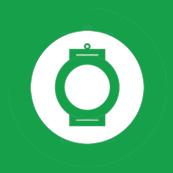 Pánské tričko s potiskem - Green chinese lantern green