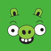 Pánské tričko s potiskem - Green pig green