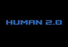 Pánské tričko s potiskem - Human 2.0 black