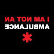 Dámské tričko s potiskem - I am not an ambulance black